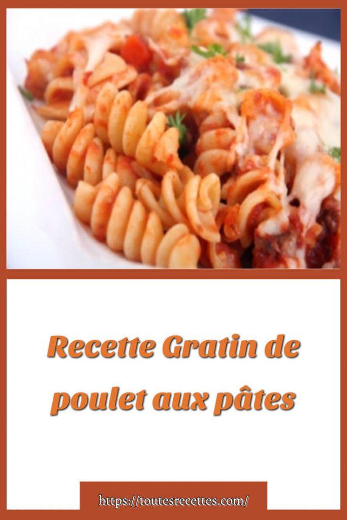 Comment préparer la Recette Gratin de poulet aux pâtes
