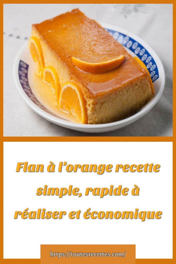Comment préparer la recette de Flan à l'orange