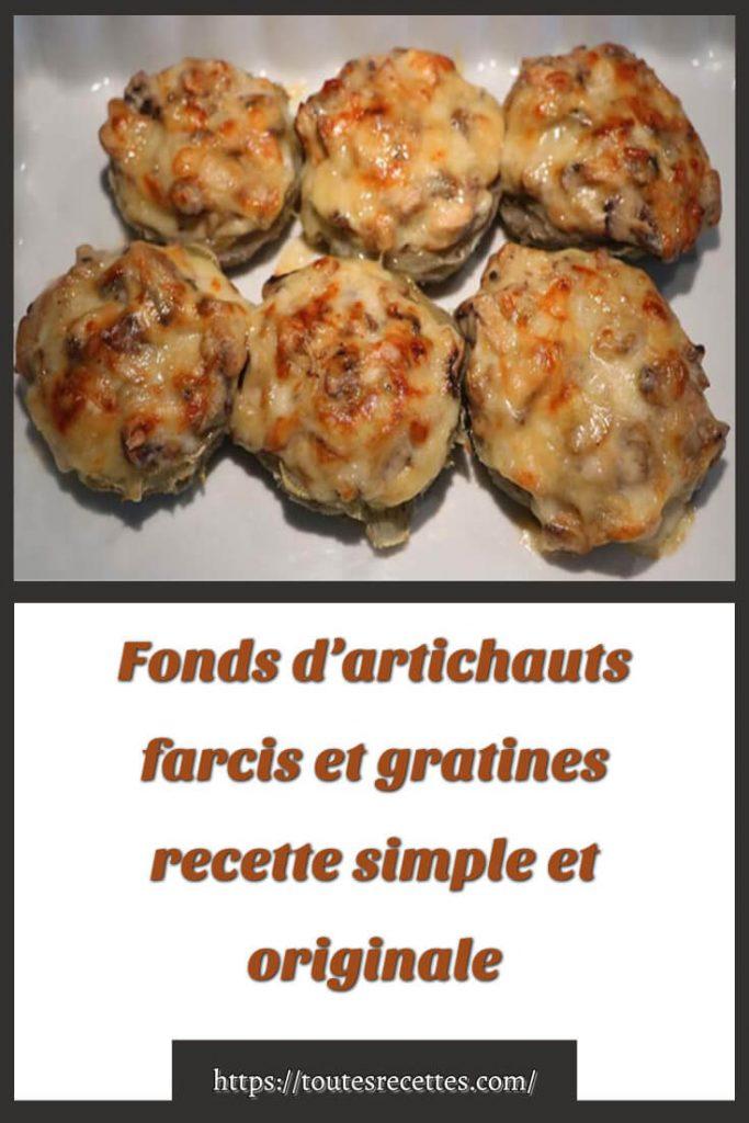 Comment préparer la recette des fonds d'artichauts farcis et gratines