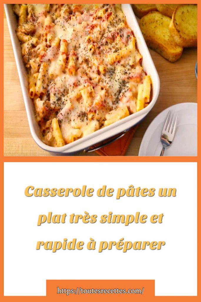 Comment préparer la Casserole de pâtes
