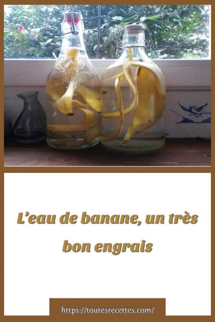 L'EAU DE BANANE, C'EST QUOI ?
