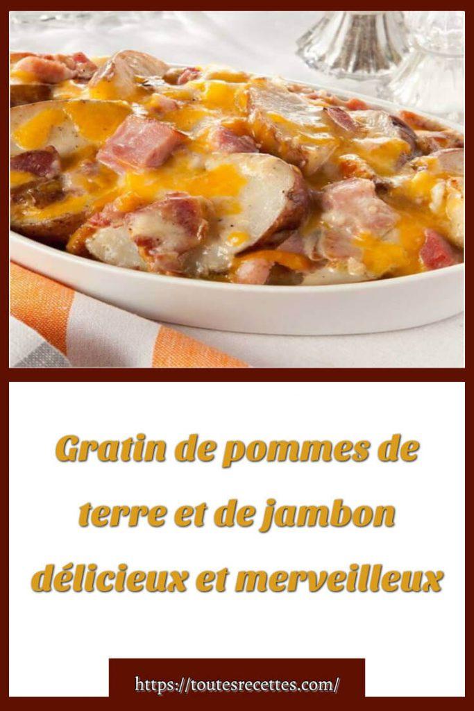Comment préparer le Gratin de pommes de terre et de jambon