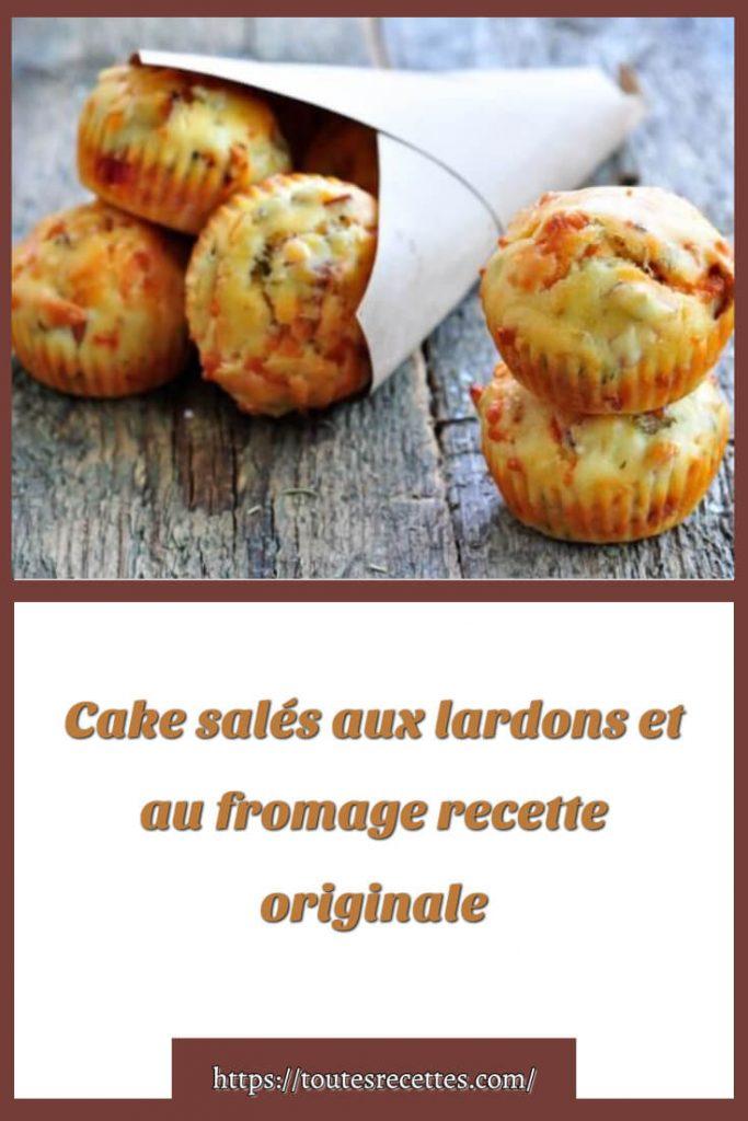 Comment préparer Cake salés aux lardons et au fromage