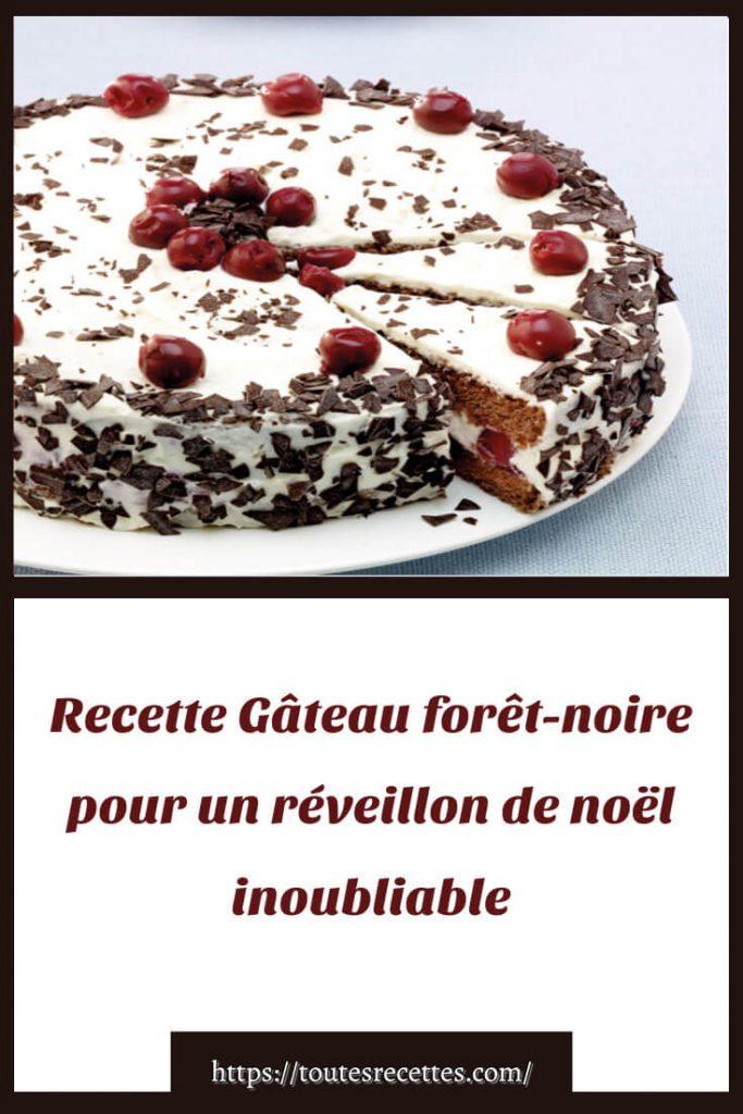 Comment préparer la Recette du Gâteau forêt-noire
