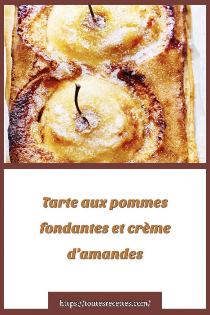 Comment préparer la Tarte aux pommes fondantes et crème d'amandes