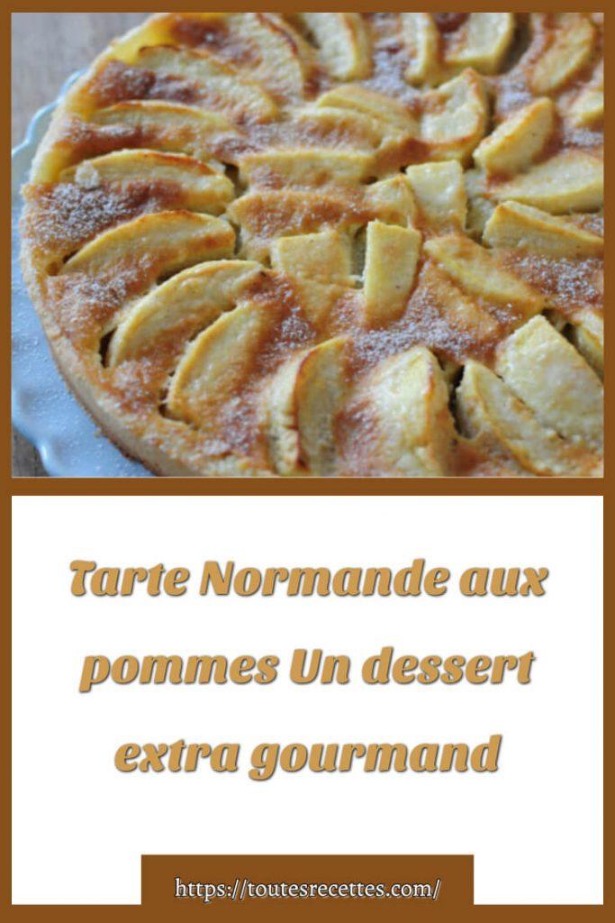 Comment préparer la recette de la Tarte Normande aux pommes