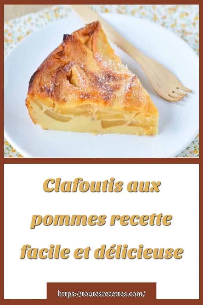 Comment préparer la recette de Clafoutis aux pommes facile