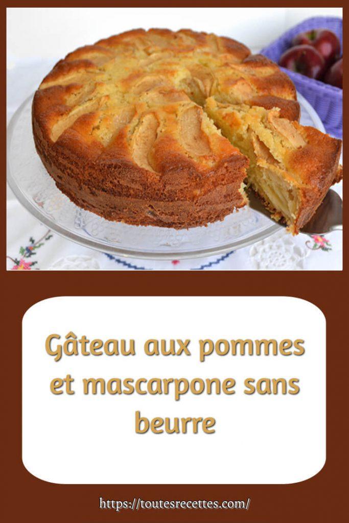 Comment préparer le Gâteau aux pommes et mascarpone sans beurre