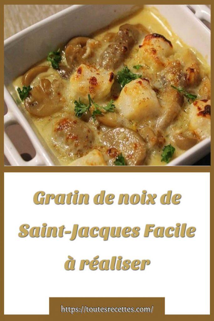 Comment préparer le Gratin de noix de Saint-Jacques
