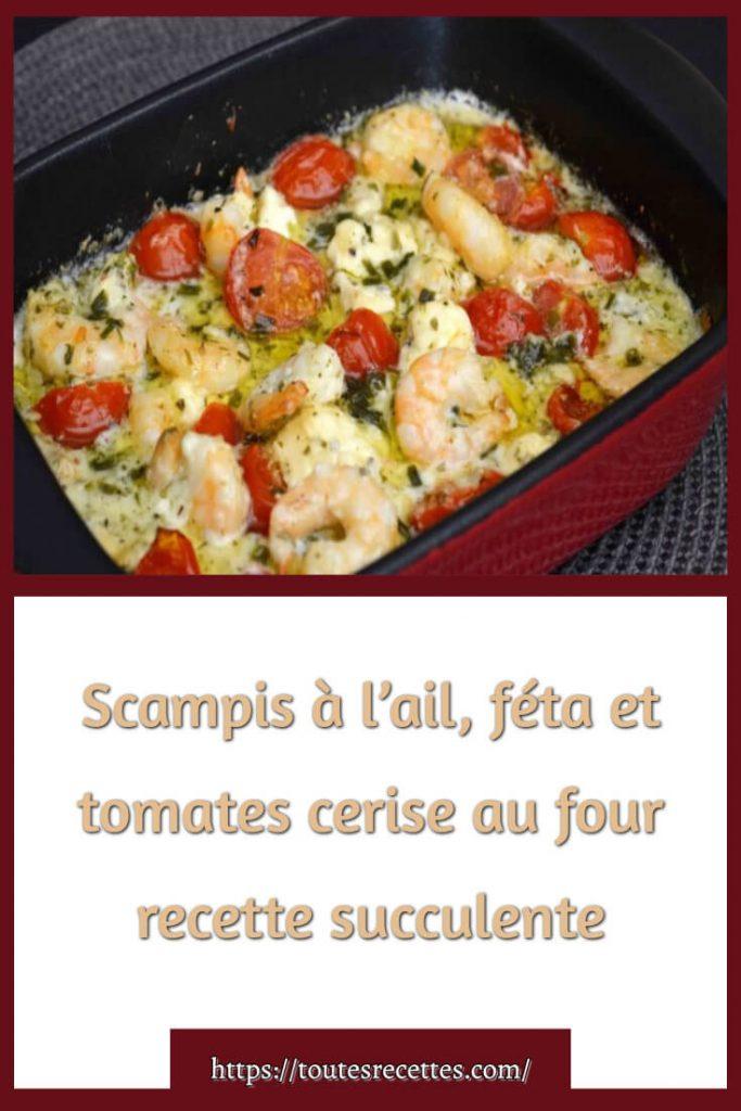 Comment préparer Scampis à l'ail, féta et tomates cerise au four