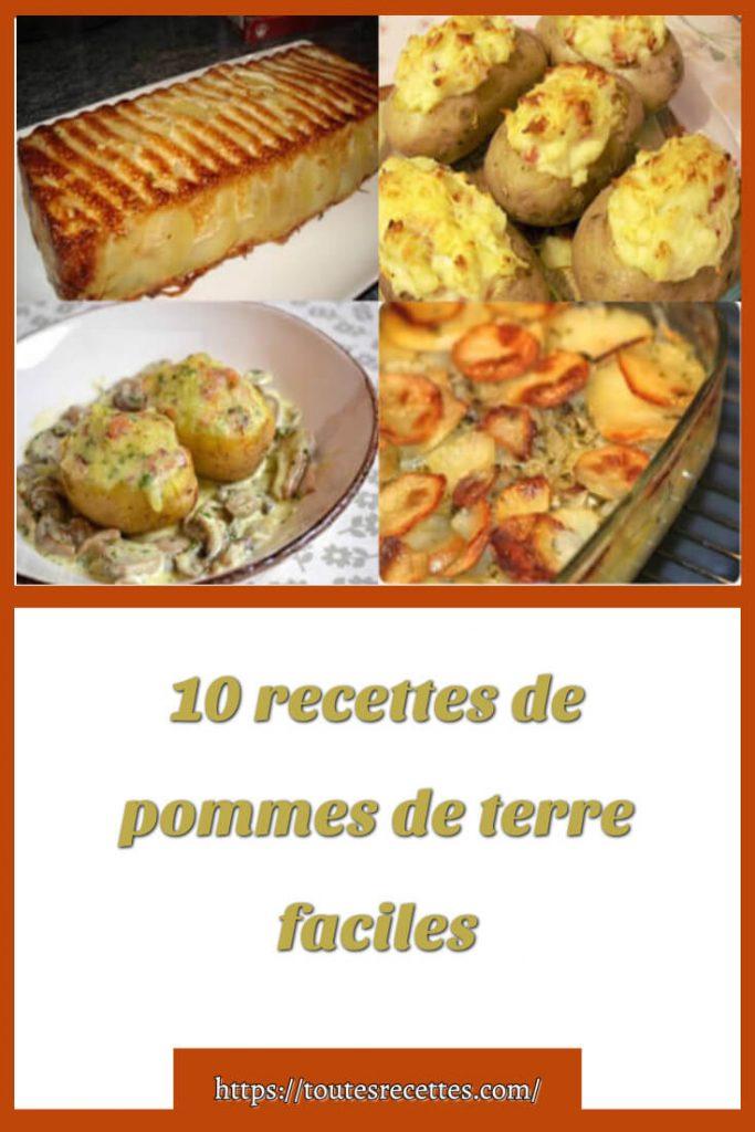 10 recettes de pommes de terre faciles