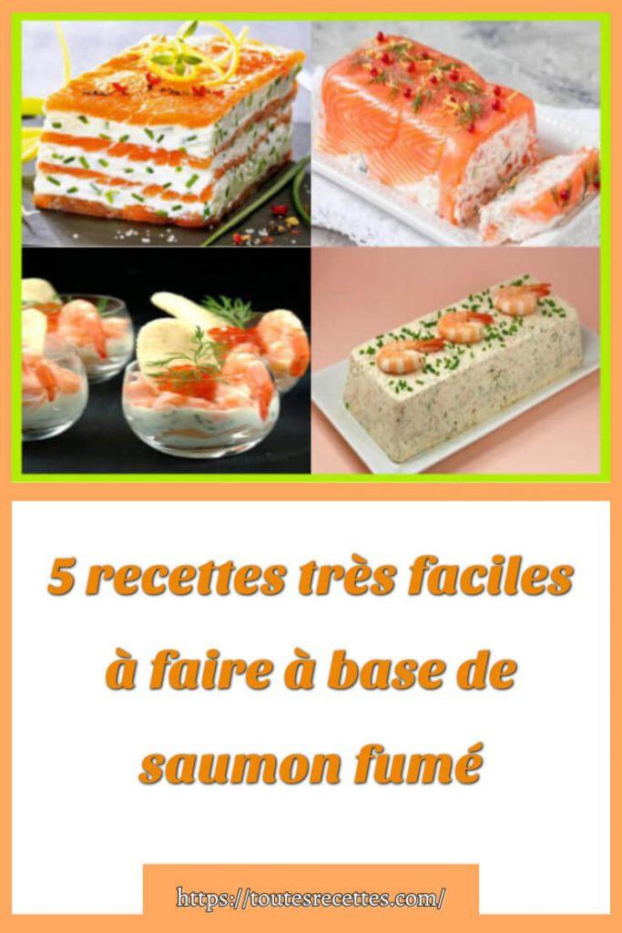 5 recettes très faciles à faire à base de saumon fumé