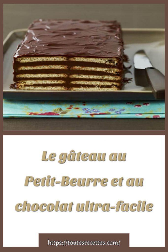 Comment préparer Le gâteau au Petit-Beurre et au chocolat