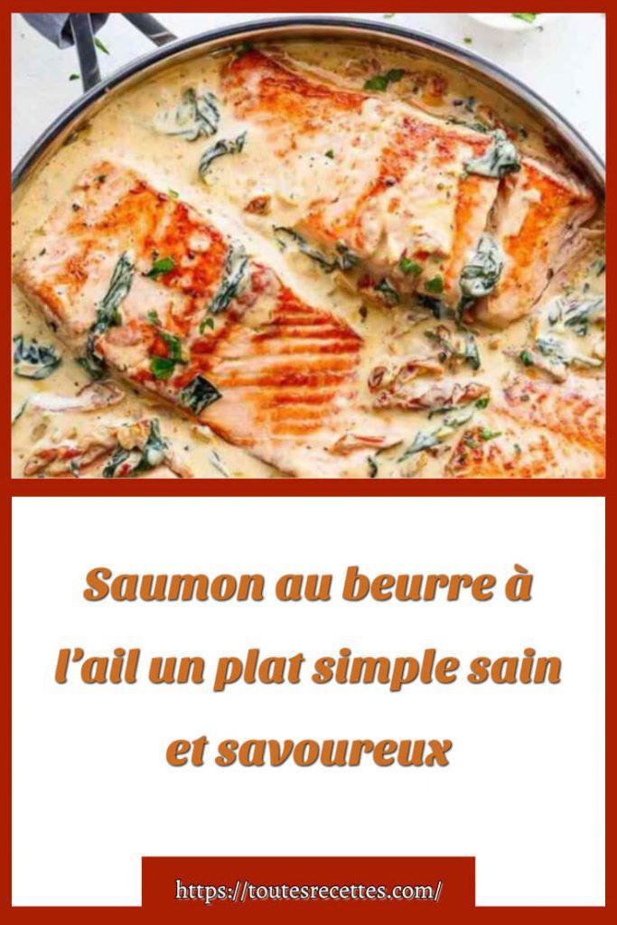 Comment préparer Saumon au beurre à l'ail un plat simple sain
