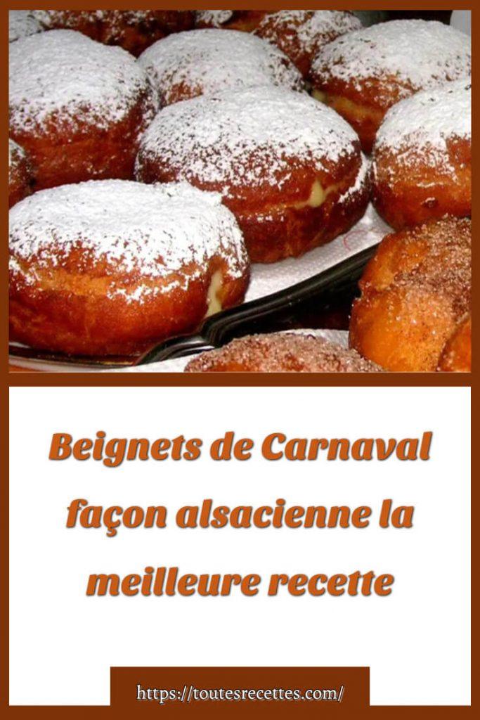 Comment préparer Beignets de Carnaval façon alsacienne