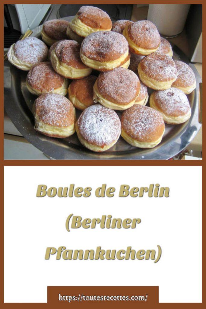 Comment préparerBoules de Berlin (Berliner Pfannkuchen)