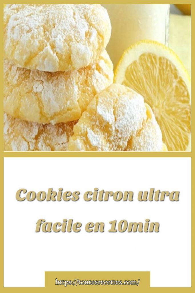 Comment préparer Cookies citron ultra facile en 10 minutes