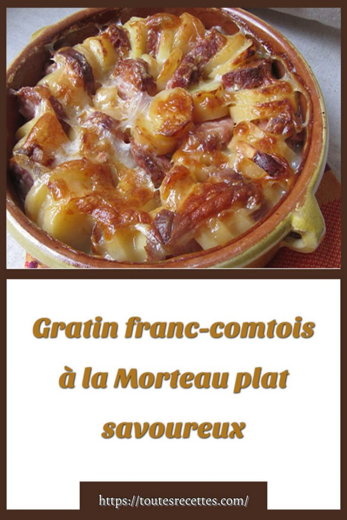 Comment préparer le Gratin franc-comtois à la Morteau