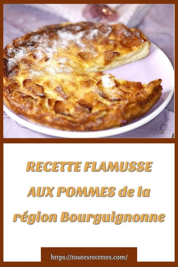 Comment préparer la FLAMUSSE AUX POMMES de la région Bourguignonne