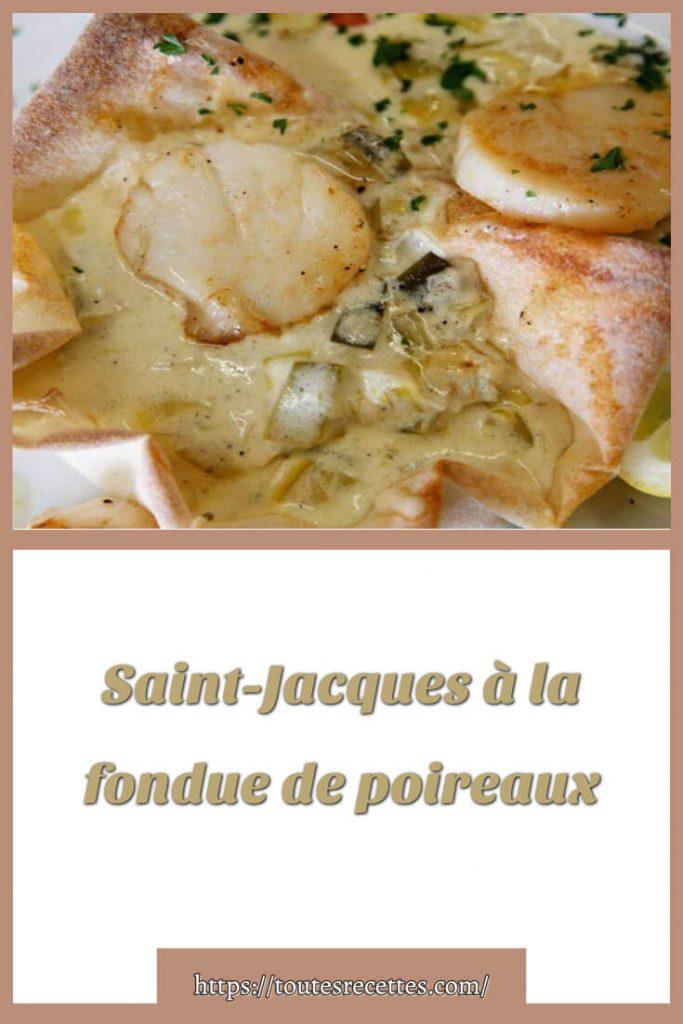 Comment préparer des Saint-Jacques à la fondue de poireaux