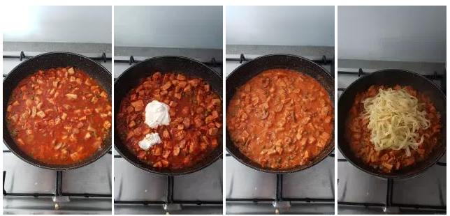 Comment préparer les Tagliatelles au poulet façon stroganoff etape 3