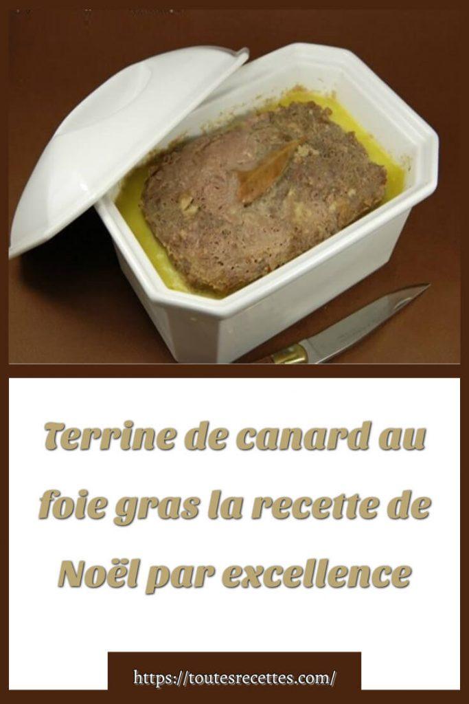 Comment préparer la Terrine de canard au foie gras