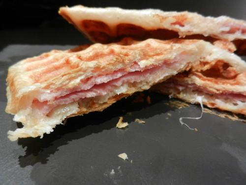 Comment préparer Gaufres express feuilletées jambon et fromage etapes