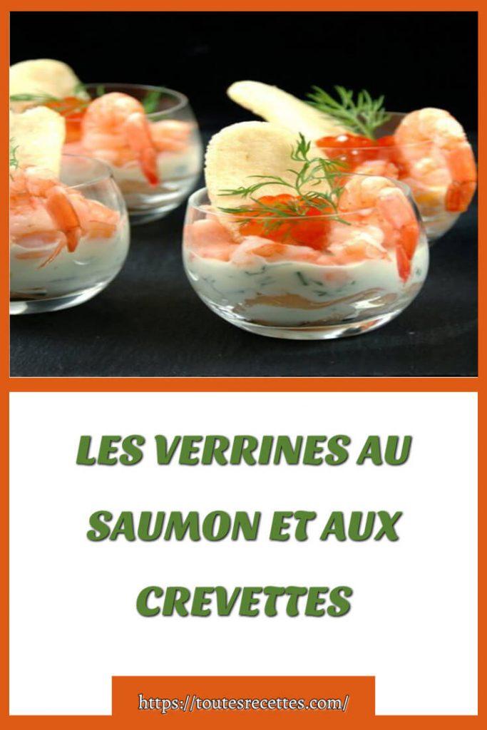 Comment préparer les VERRINES AU SAUMON ET AUX CREVETTES