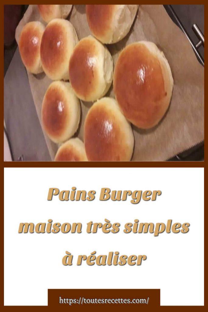Comment préparer des Pains Burger maison