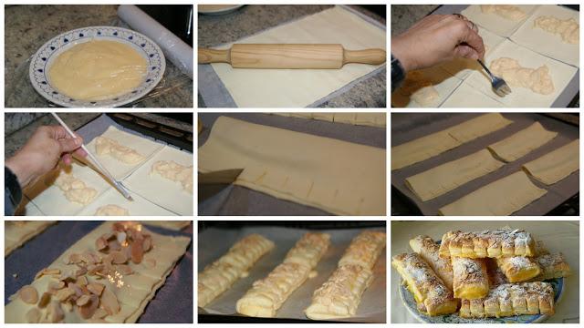 Comment préparer les Chaussons crème pâtissière et amandes etapes 2