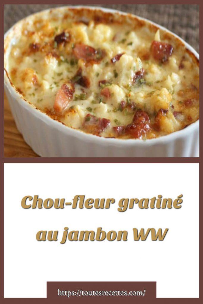 Comment préparer le gratin de chou-fleur au jambon WW