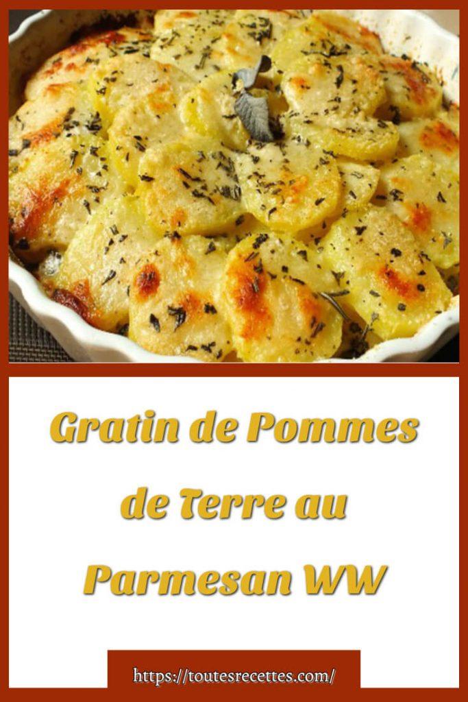 Comment préparer le Gratin de Pommes de Terre au Parmesan WW