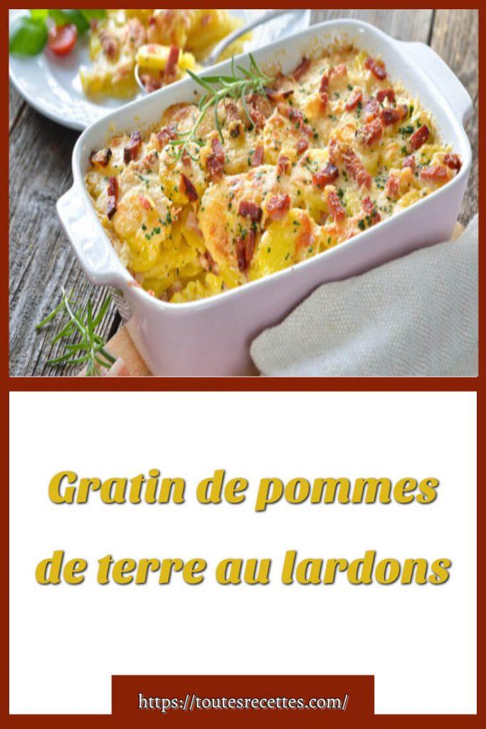 Comment préparer le Gratin de pommes de terre au lardons