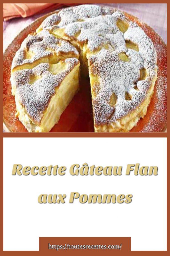 Comment préparer le Gâteau Flan aux Pommes léger