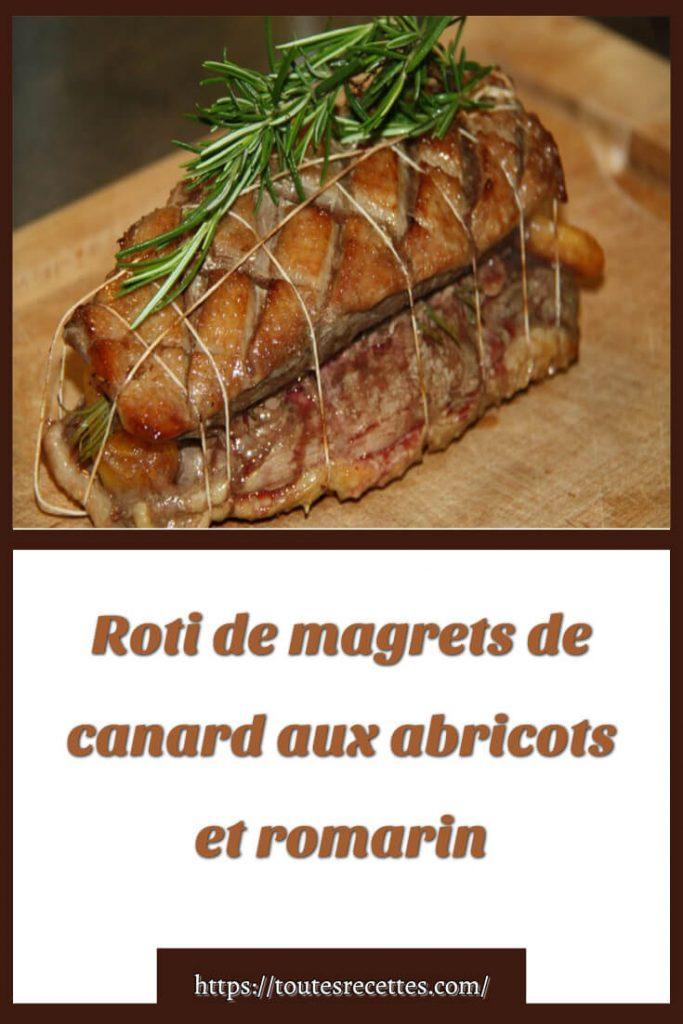 Comment préparer le Roti de magrets de canard aux abricots et romarin