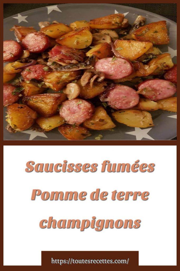 Comment préparer les Saucisses fumées Pomme de terre champignons