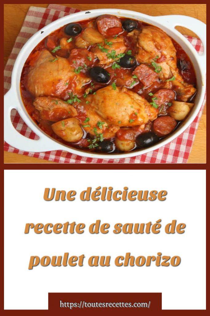 Comment préparer le sauté de poulet au chorizo