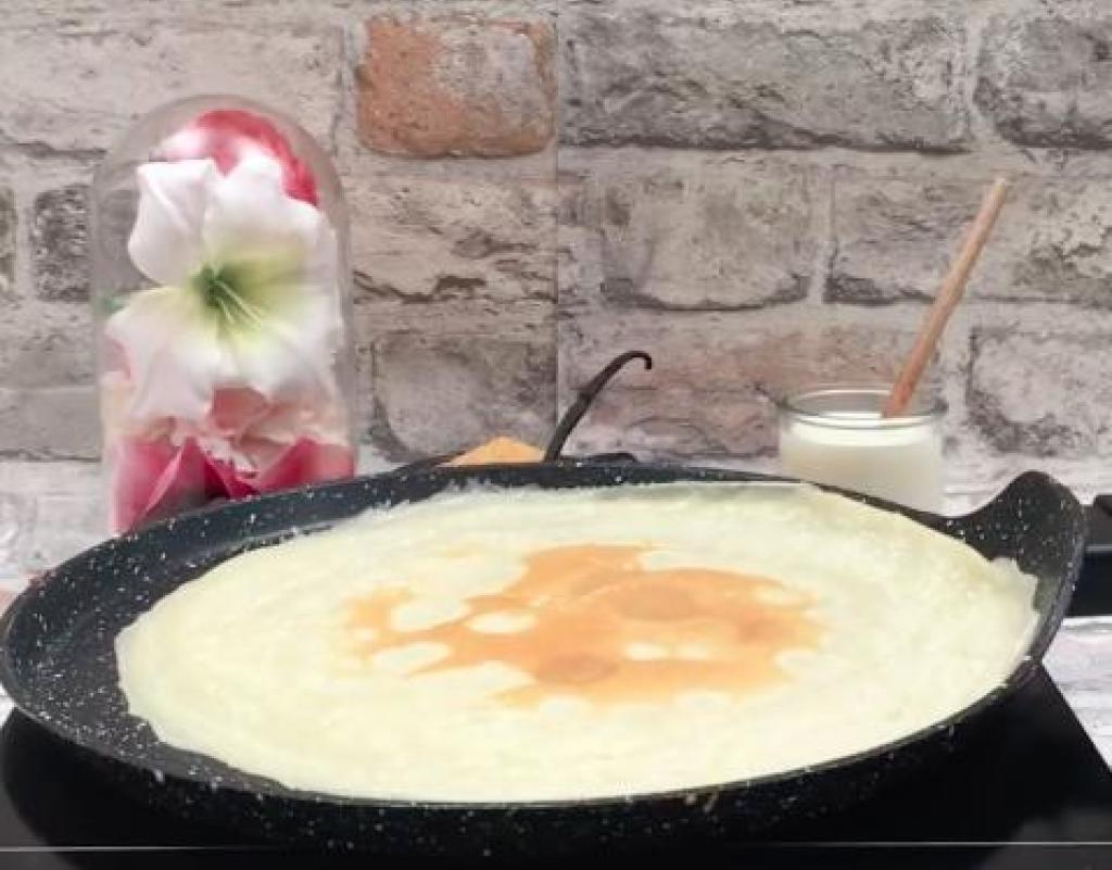Comment préparer le gâteau « crêpes brûlées » etape 1