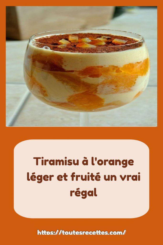 Comment préparer Tiramisu à l'orange léger et fruité