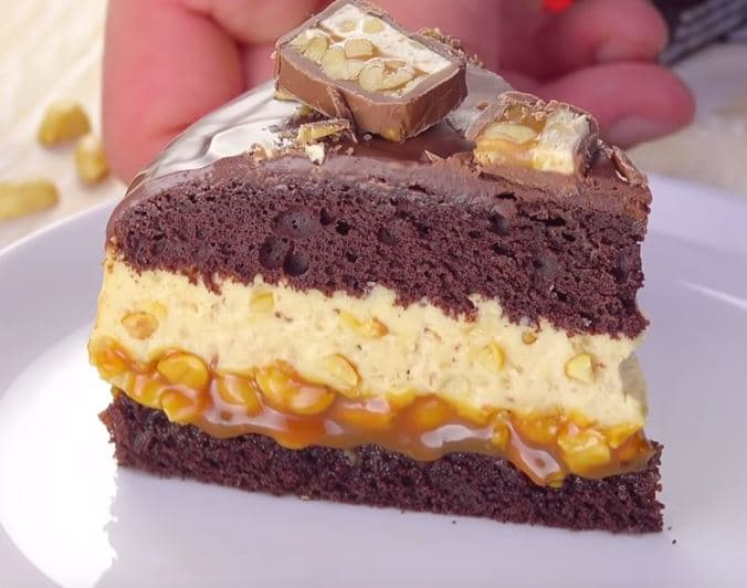 Comm7nt préparer le Gâteau aux Snickers etape 6