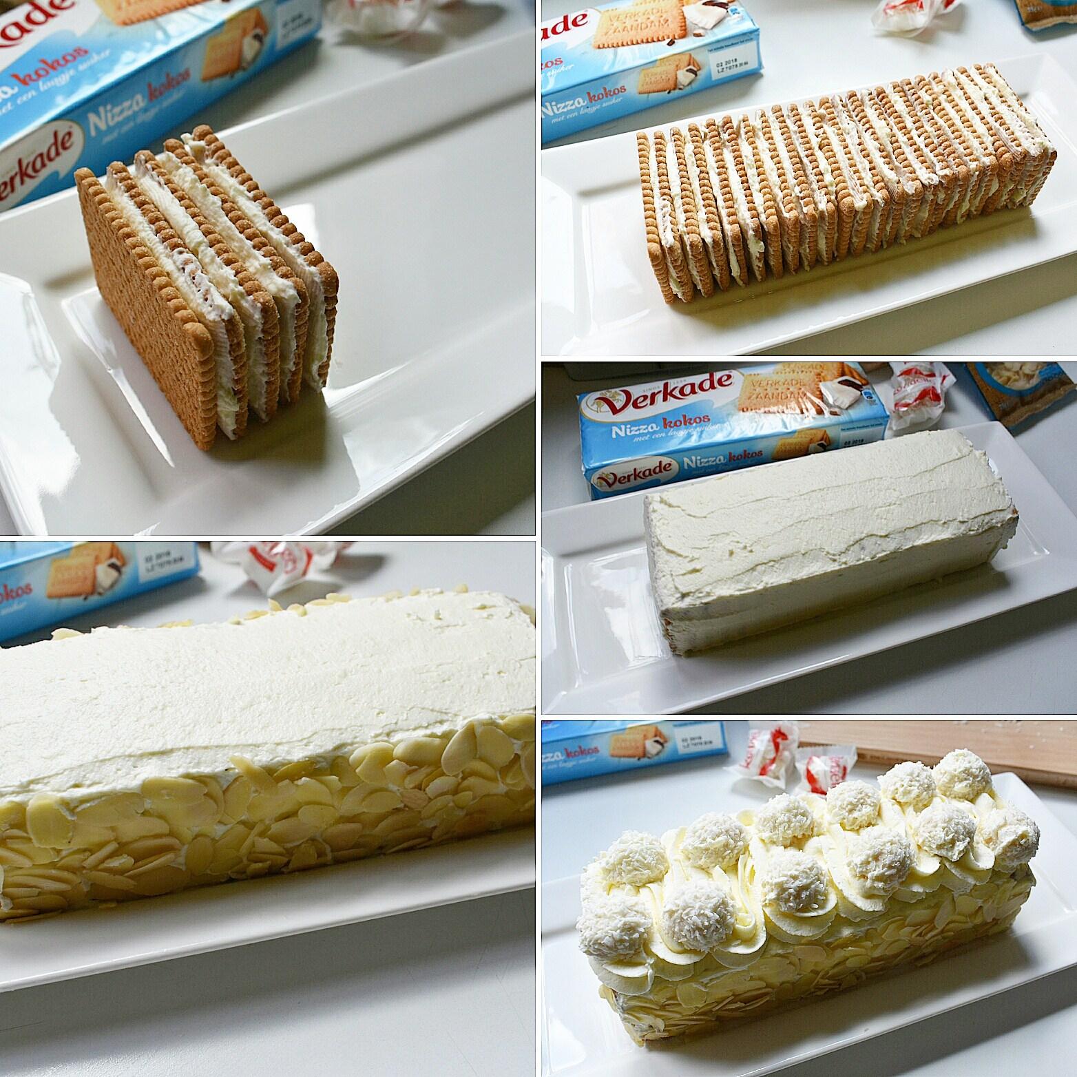Gâteau raffaello aux petits beurre etapes de préparation
