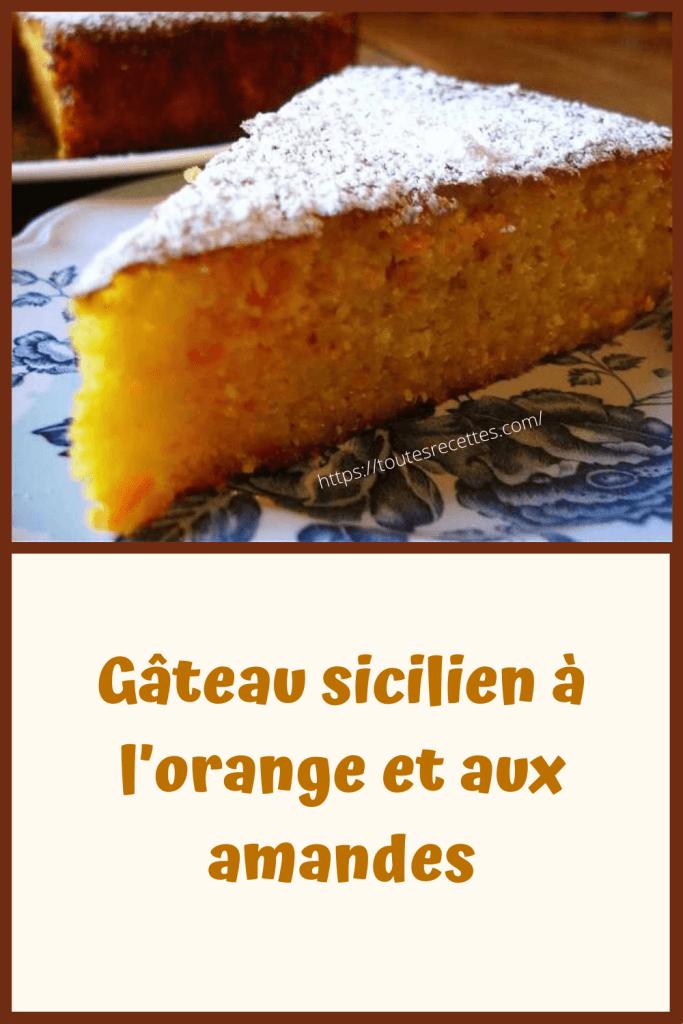 Comment préparer le Gâteau sicilien à l'orange et aux amandes