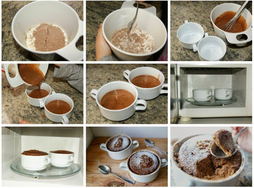 Comment préparer le Mug cake au chocolat en 5 minutes etapes