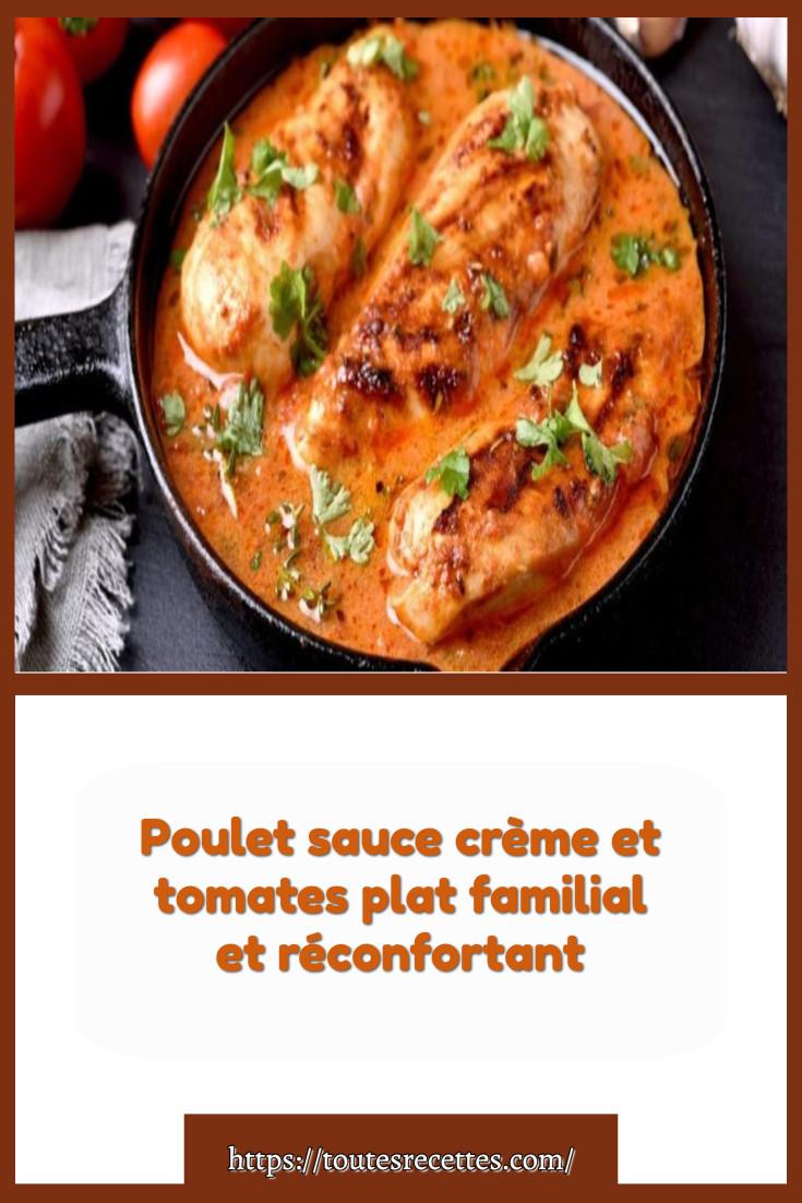 Comment préparer le Poulet sauce crème et tomates