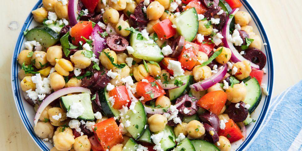 Salade de pois chiches méditerranéenne etape 2