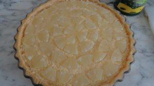 Comment préparer la Tarte Hawaïenne, ananas noix de coco etape 3