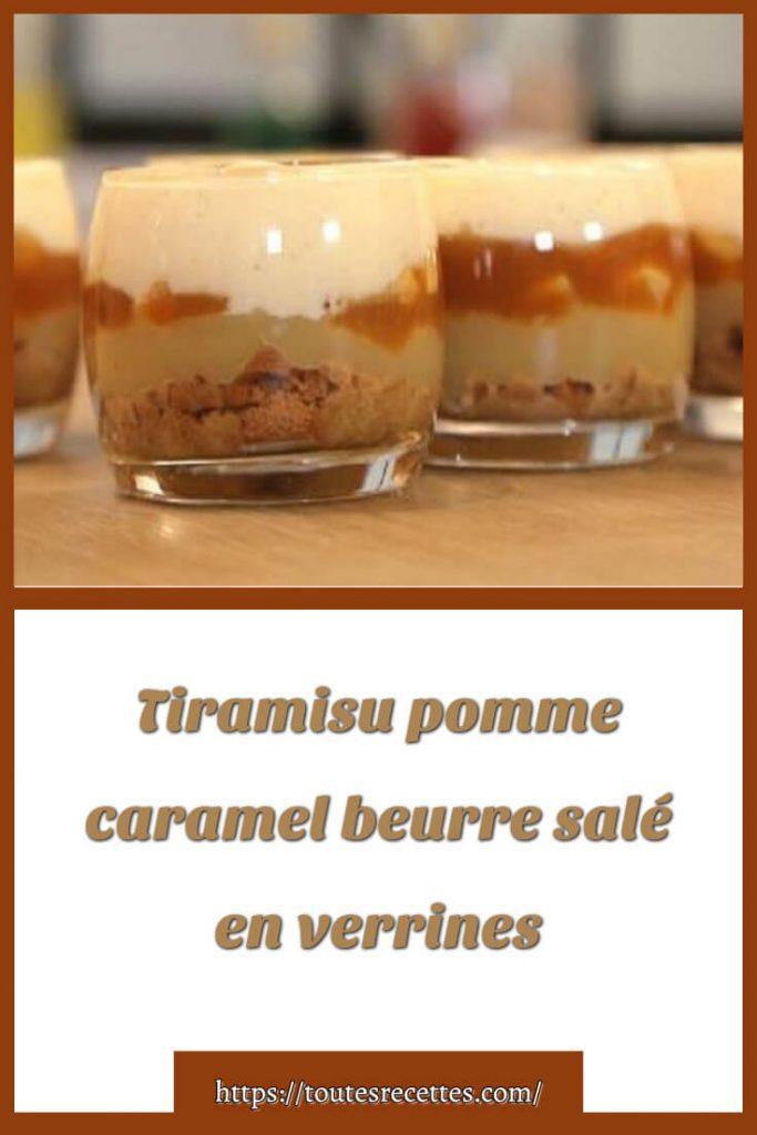 Comment préparer Tiramisu pomme caramel beurre salé en verrines