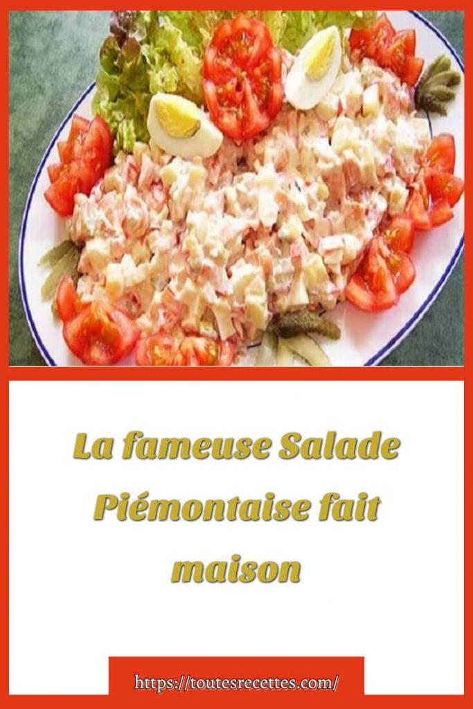 Comment préparer La fameuse Salade Piémontaise fait maison