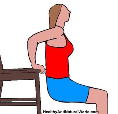 exercices simples pour se débarrasser des bras flasques: Dips