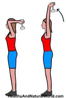 Extensions des triceps debout